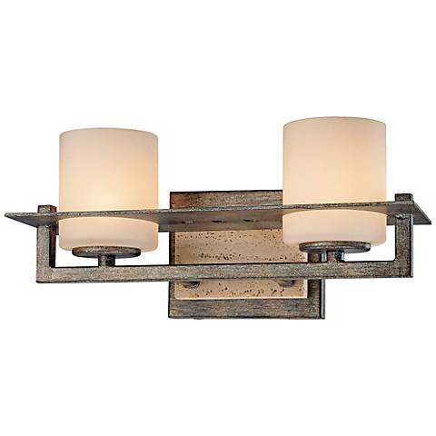 "Minka Compositions 12 3/4"" Wide Bathroom Wall Light"