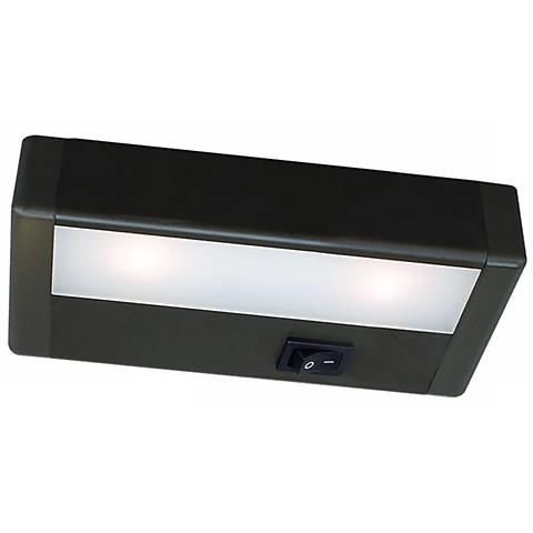 wac led 8 wide bronze under cabinet light bar m6763 lamps plus. Black Bedroom Furniture Sets. Home Design Ideas
