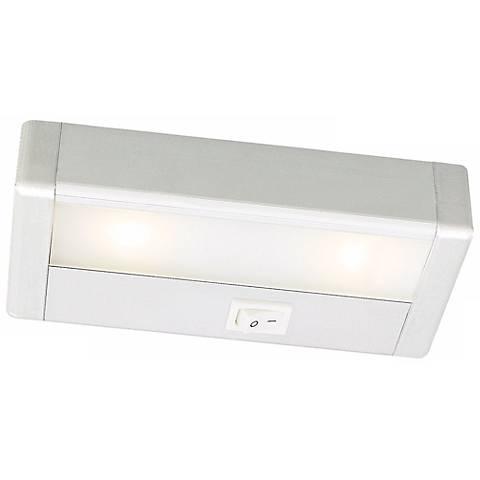 "WAC LED 8"" Wide Satin Nickel Under Cabinet Light Bar"