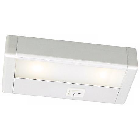 wac led 8 wide satin nickel under cabinet light bar m6764 lamps plus. Black Bedroom Furniture Sets. Home Design Ideas