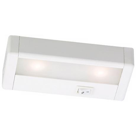 wac white led 8 wide under cabinet light bar m6766 lamps plus. Black Bedroom Furniture Sets. Home Design Ideas