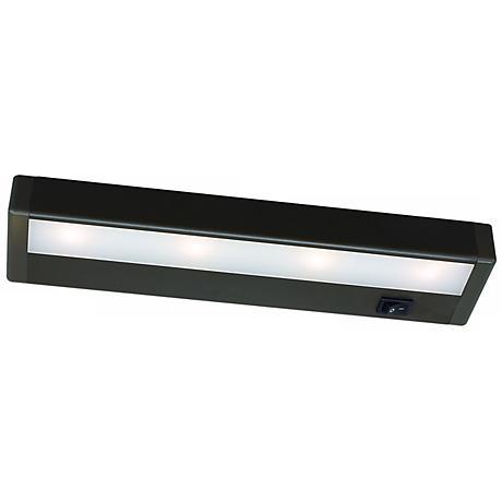 wac bronze led 12 wide under cabinet light bar m6767 lamps plus. Black Bedroom Furniture Sets. Home Design Ideas