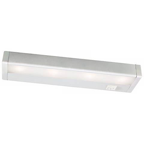 wac white led 12 wide under cabinet light bar m6770 lamps plus. Black Bedroom Furniture Sets. Home Design Ideas