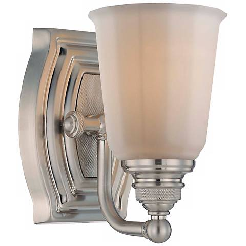"Clairemont Collection 7 1/4"" High Brushed Nickel Wall Sconce"