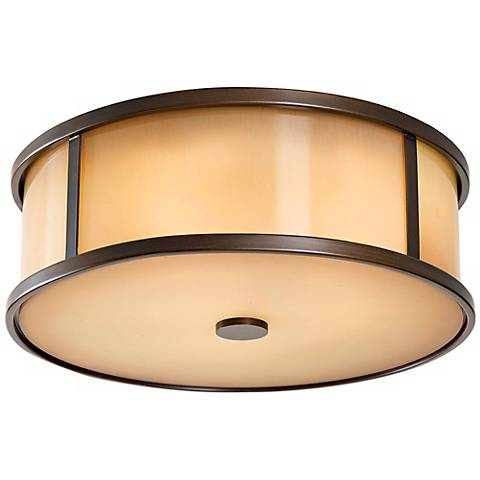 """Feiss Dakota 14"""" Wide Indoor - Outdoor Ceiling Light"""