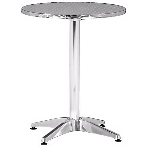 Christabel Aluminum Folding Indoor-Outdoor Accent  Table