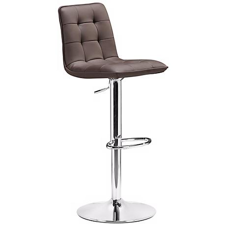 Zuo Oxygen Espresso Adjustable Height Bar or Counter Stool - #M7310 ...
