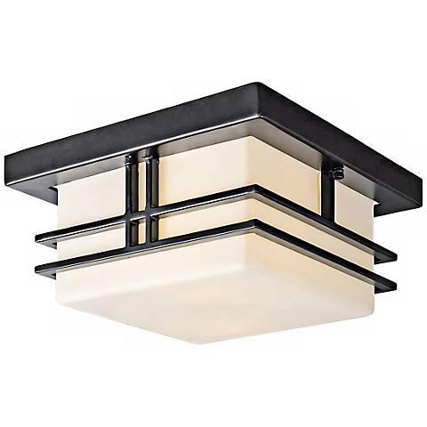 """Tremillo Black 11 1/2"""" Wide Indoor - Outdoor Ceiling Light"""