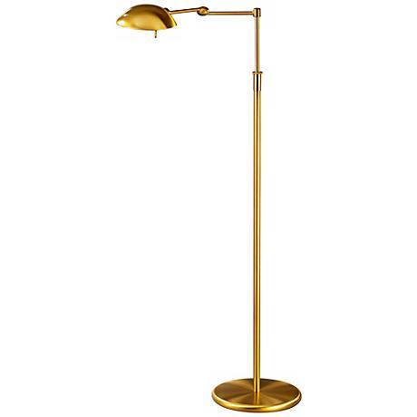 Holtkoetter Antique Brass Pharmacy Swing Arm Floor Lamp