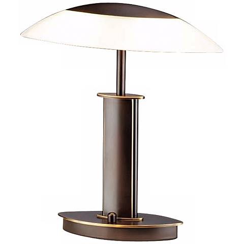 "Holtkoetter Elliptical Old Bronze 12 1/4"" High Desk Lamp"