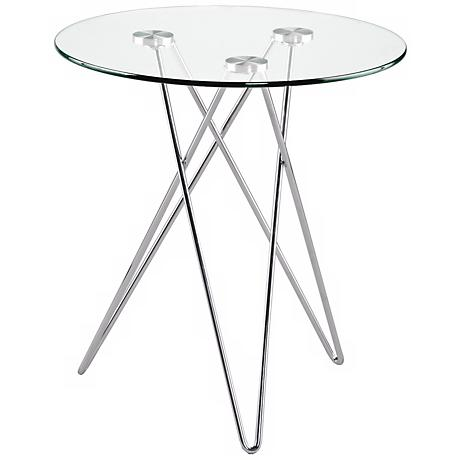 Zoey Tempered Glass Side Table