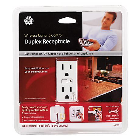 Z-Wave Wireless Lighting Control Duplex Outlet