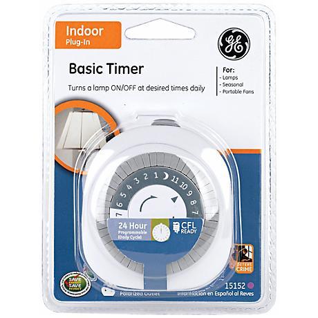 CFL Compatible Plug-in Mechanical 24 Hour Indoor Timer