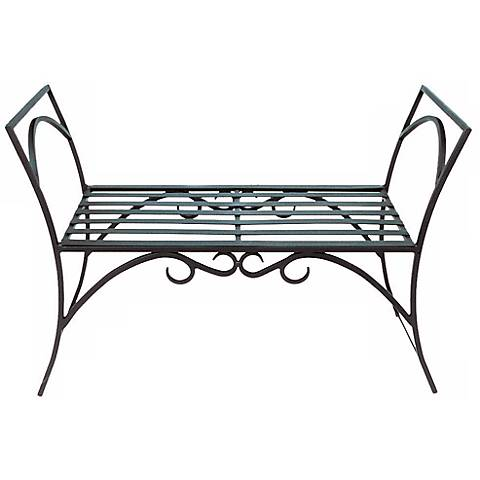 Arbor Black Metal Outdoor Bench