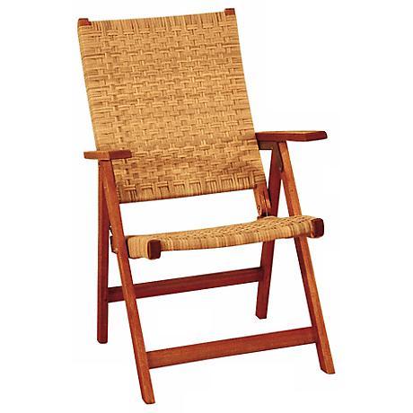 Eucalyptus Woven Seat Outdoor Folding Chair