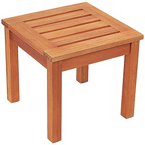 Eucalyptus Natural Outdoor Side Table