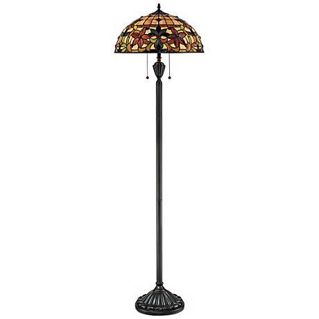 Quoizel Kami Tiffany Art Glass Floor Lamp