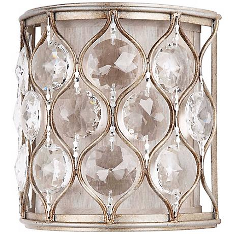"""Feiss Lucia Collection 8"""" High Crystal Wall Sconce"""