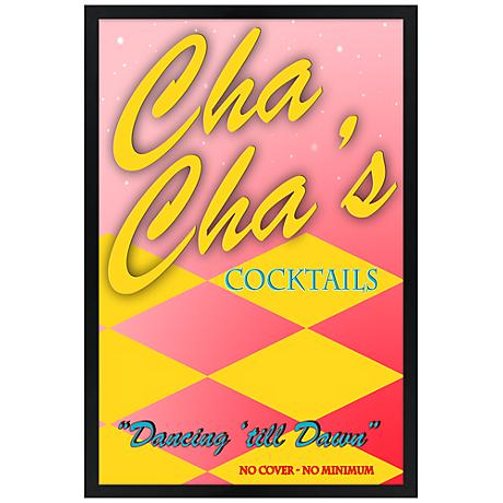 "Cha Cha's Cocktails Giclee 30"" High Wall Art"