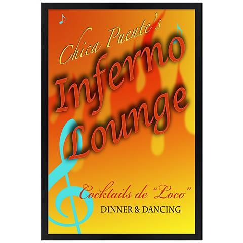 "Inferno Lounge Giclee 30"" High Wall Art"