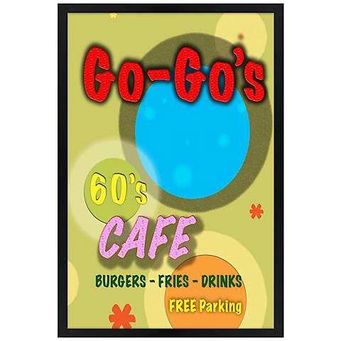 """Go-Go's Cafe Giclee 30"""" High Wall Art"""