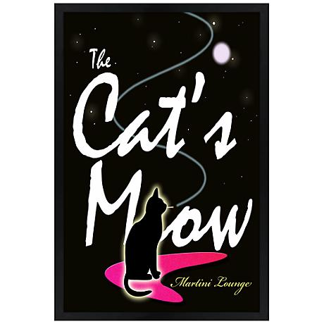 """The Cat's Meow Giclee 30"""" High Wall Art"""