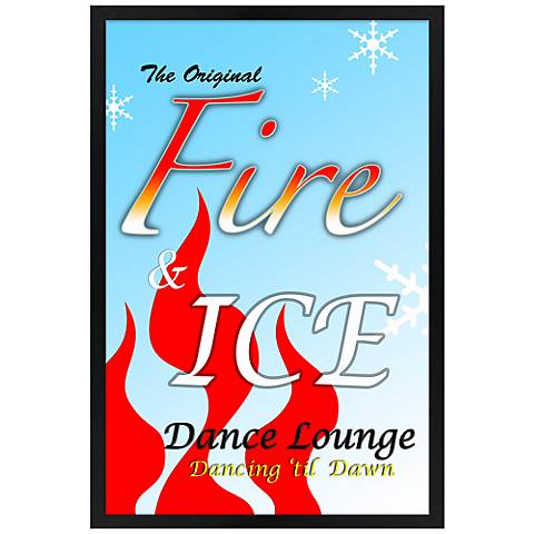 "Fire & Ice Giclee 30"" High Wall Art"