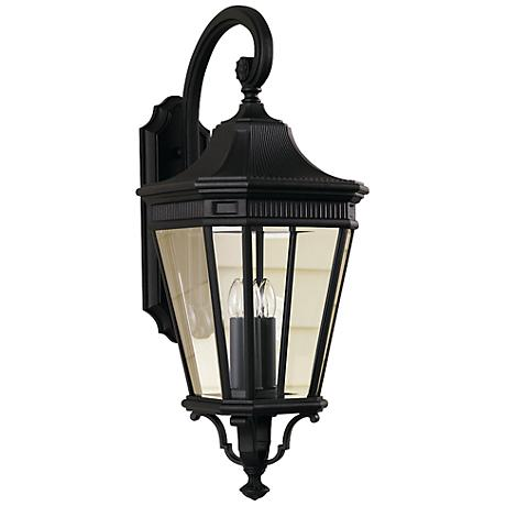 """Feiss Cotswold Lane 30""""H Black Outdoor Wall Light"""