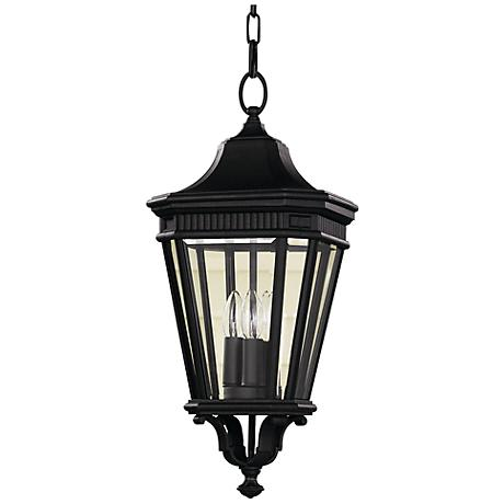 """Feiss Cotswold Lane 21 1/2""""H Black Outdoor Hanging Light"""