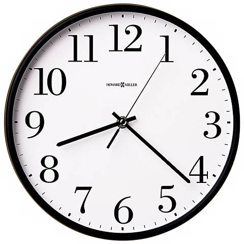 "Howard Miller Office Mate 10 1/2"" Wide Wall Clock"