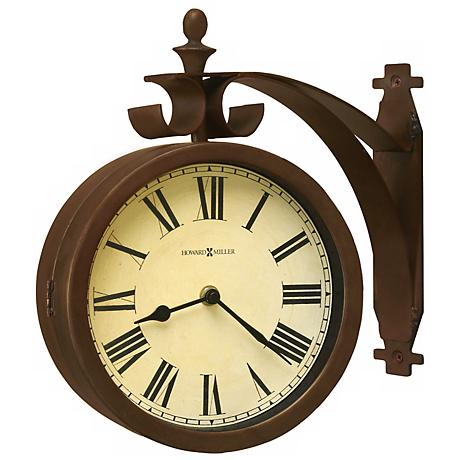 "Howard Miller O'Brien 12 1/4"" Wide Double Dial Wall Clock"