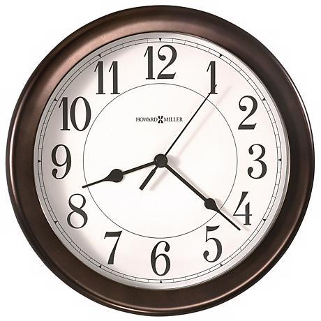 "Howard Miller Virgo Oil Rubbed Bronze 8 1/2"" Wide Wall Clock"