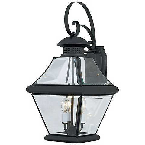 """Rutledge Collection Black 24"""" High Outdoor Wall Light"""