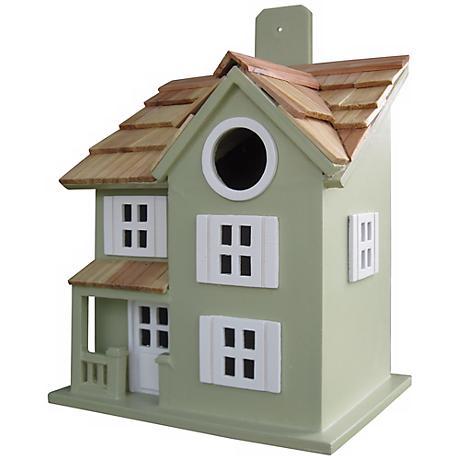 Townhouse Green Bird House