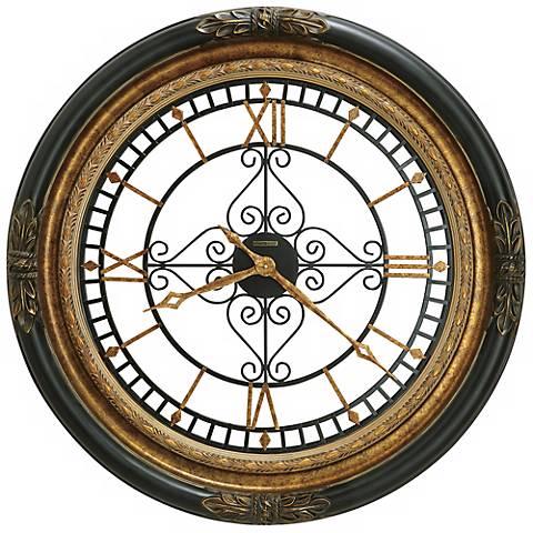 "Howard Miller Rosario 37"" Wide Gallery Wall Clock"