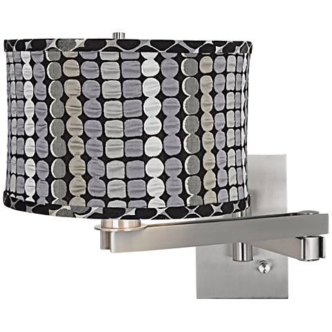 Klose Gray Drum Brushed Steel Plug-In Square Swing Arm