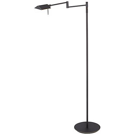 Holtkoetter Old Bronze LED Swing Arm Floor Lamp