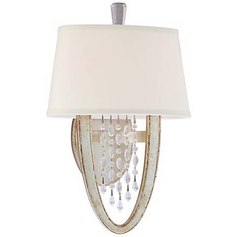 """Corbett Viceroy Collection 15"""" High Silver Leaf Wall Sconce"""