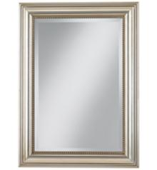 """Uttermost Stuart Silver Leaf 36 3/4"""" High Wall Mirror"""