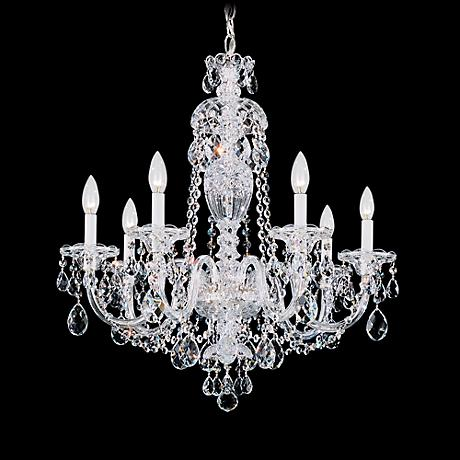 "Schonbek Sterling 25"" Wide Swarovski Crystal Chandelier"