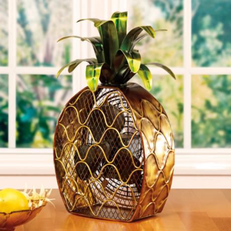 Deco Breeze Pineapple Figurine Fan N0240 Lamps Plus
