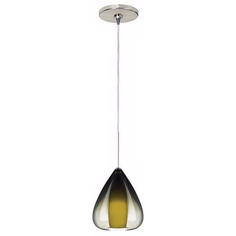 Soleil Olive Green Satin Nickel Tech Lighting Mini Pendant