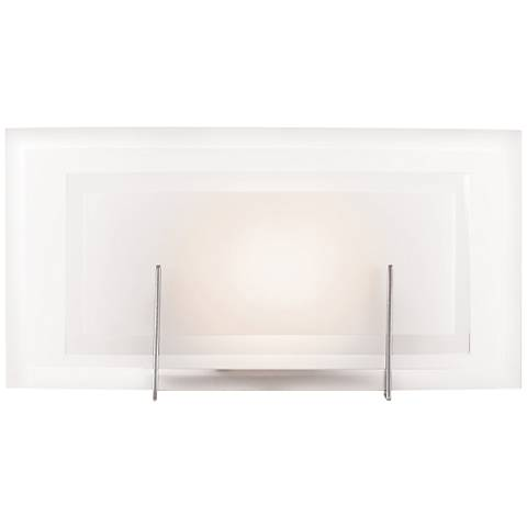 """Nitrous 6 1/2"""" High Brushed Steel Wall Sconce"""