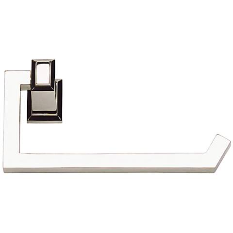 "Sutton Place 6 3/4""W Polished Nickel Toilet Paper Holder"