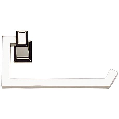 """Sutton Place 6 3/4""""W Polished Nickel Toilet Paper Holder"""