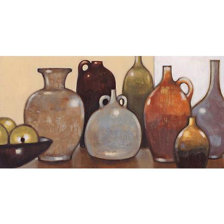 "Still Life with Green Apples Giclee 36"" Wide Canvas Wall Art"