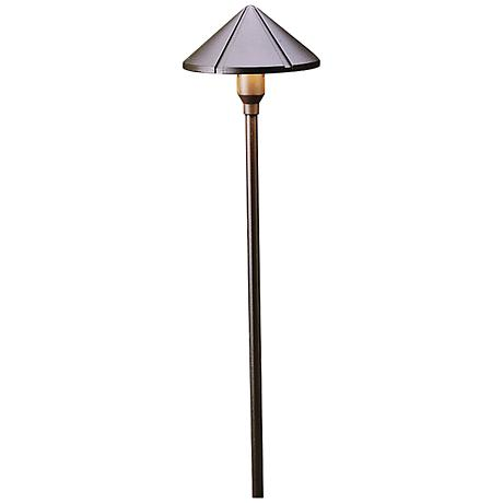 "Kichler 22 1/4"" High Bronze Center-Mount LED Path Light"