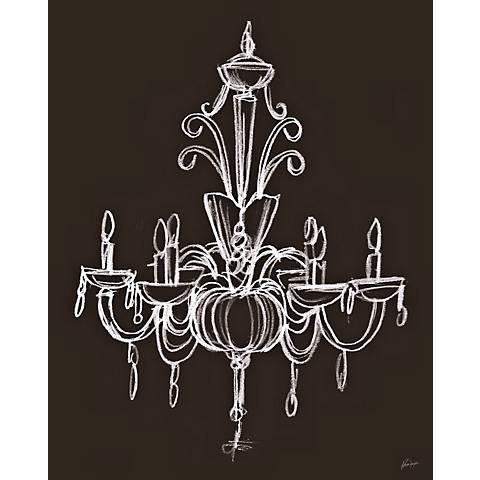 "Elegant Chandelier I Giclee 24"" High Wall Art"
