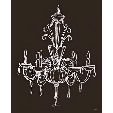 Wall Art Lamps Plus : Elegant Chandelier I Giclee 24