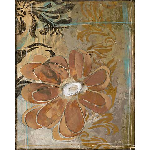 """Floral Abstraction II Giclee 24"""" High Canvas Wall Art"""